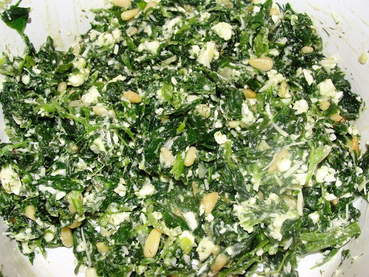 Healthy spinach filling