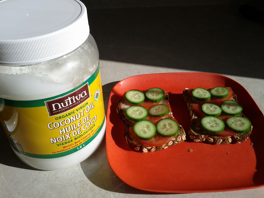a healthy breakfast idea for kids - coconut toast