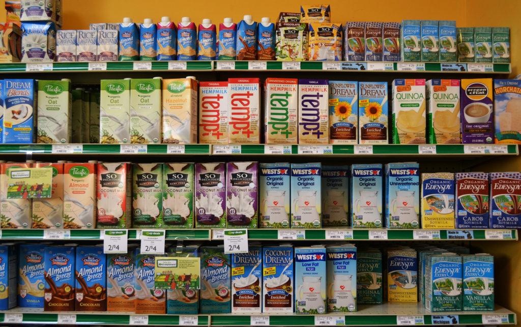 Dairy Free Nut milks isle
