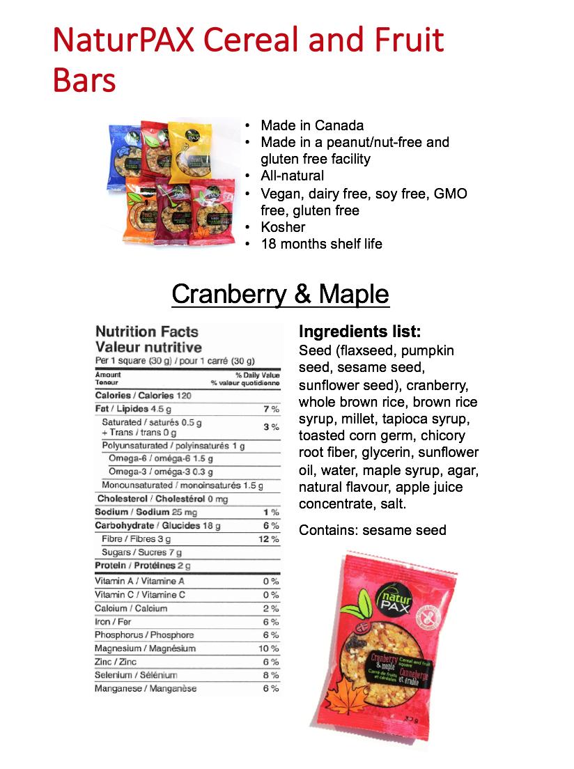naturpax maple cranberry