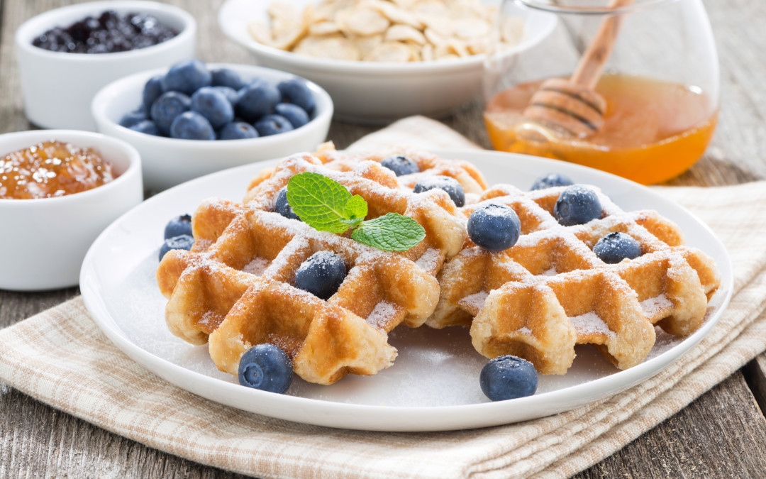 5 Ingredients healthy waffle recipe
