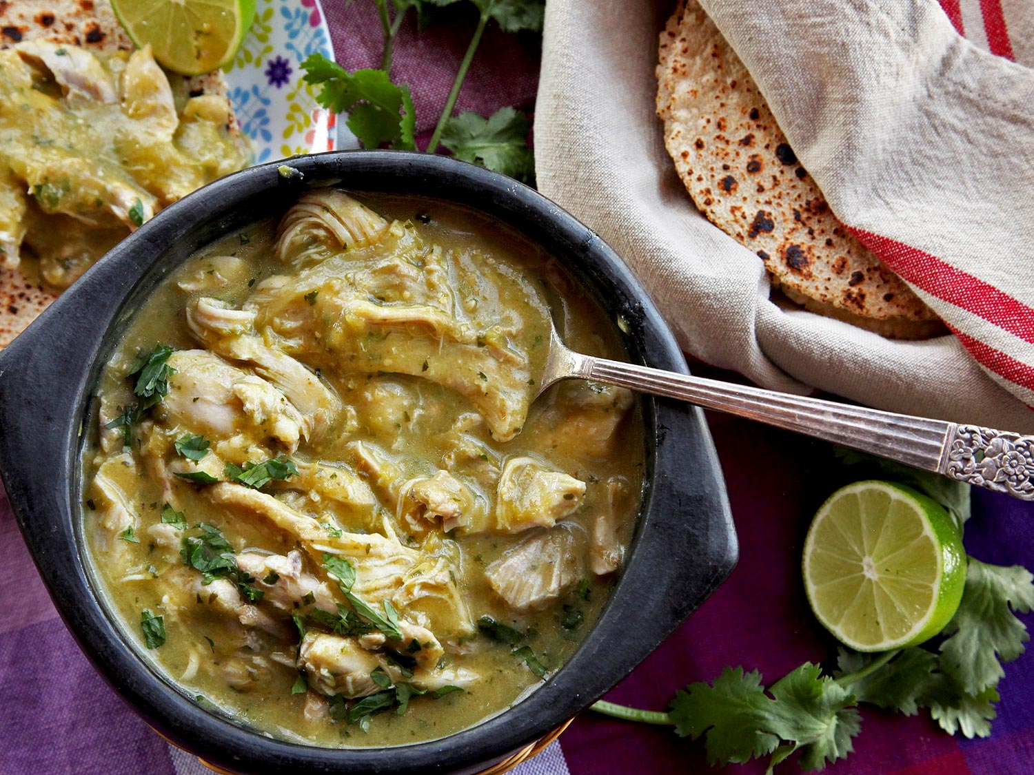 Green chile with chicken
